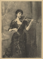 Lithograph after the preceding photograph, from The Magazine of Music, Christmas Number, December 1887.
