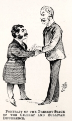 The 'Carpet Quarrel' settled: cartoon by Alfred Bryan from Judy, 4 June 1890.