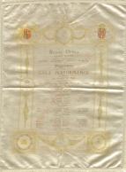 Gala programme, 11 June 1907. Melba's celebrated partnership with Caruso lasted from 1902 to 1913.