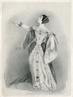 Grisi as Anna Bolena. Lithograph by R. J. Lane after A. E. Chalon. Publ. J. Mitchell, London, 1 January 1836.