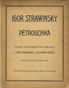Petrushka. First edition of the arrangement for piano 4-hands, Berlin, Moscow and St. Petersburg, 1912.