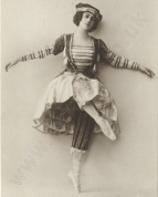Tamara Karsavina as The Ballerina. Postcard photograph, published by Hermann Leiser, Berlin, c.1911.