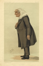 Caricature (with text) by 'Spy' (Leslie Ward) from Vanity Fair, 15 May 1886.