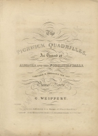 Weippert (George): The Pickwick Quadrilles.  London, [1837?].