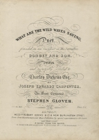 Glover (Stephen):  What are the wild Waves saying?   London, [1848].  [based on an episode in Dombey and Son].