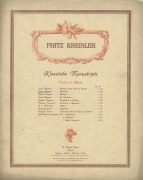 Kreisler's famous series of pastiches, published under the title 'Classical Manuscripts' in 1910.
