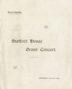 Programme for a miscellaneous concert at Stafford House (now Lancaster House), 1 July 1903. Kreisler's London debut was at the St. James's Hall on 12 May 1902 (Beethoven Concerto, conducted by Hans Richter).