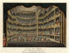 Auditorium of the third Drury Lane Theatre.  Engraving by Isaac Taylor after Edward Pugh published 11 August 1804 by Richard Phillips' in Modern London : Being the History and Present State of the British Metropolis, London, 1804.