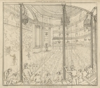Interior View (before any remodelling) from La Belle Assemblée, Vol 6, 1813. Engraving by William Hopwood after N. Heideloff.