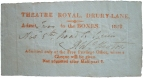 Free pass dated 5 November 1819, signed by Robert William Elliston for a performance of The Road to Ruin..