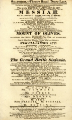 Playbill for the Oratorios, 30 January 1817.