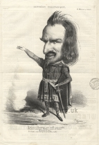 Lithographed caricature by B. Roubaud ('Benjamin') from Le Charivari.