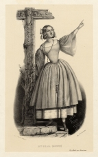 Julie Dorus-Gras as Alice. Lithograph by Lacauchie.  Royal College of Music, London.