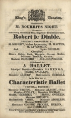 Playbill from The Theatrical Observer, 28 June 1832.
