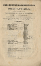 Cast list for the first performance from an 1848 Paris edition of the libretto.