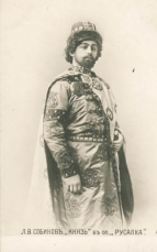 Leonid Vital'yevich Sobinov (1872-1934) as the Prince in Rusalka.