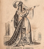Miss Inverarity in her first performance as Rebecca in The Maid of Judah. This took place on 16 June 1831 at the Theatre Royal, Covent Garden in a benefit evening for the tenor John Wilson.