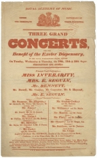 Bill for Three Grand Concerts for the Benefit of the Exeter Dispensary at the Royal Subscription Rooms, Exeter, 10-12 September, [1833].
