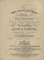 "Louis Spohr: ""Rose Softly Blooming!"" Romance from Azor & Zemira. London, [1831]."