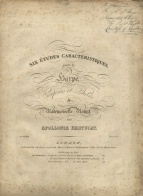Music from John Thomas's library. Bertucat (Apollonie): Six études caracteréristiques. London, [c.1842]. Inscribed J. Thomas Aug. 42 / R.A. of Music / Presented to him by / The Right Honble. / Countess of Lovelace.