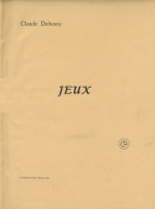 Jeux. First edition of the piano score, Paris, [1913].