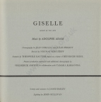 Programme for Royal Opera House, Covent Garden, Giselle, Wednesday, 21 February 1962. This was Nureyev's first performance with Margot Fonteyn. Their legendary partnership was to last until 1979. Dame Margot's death in 1993 occurred on the 29th anniversary of this historic first performance.