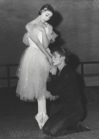 Rehearsing Giselle with Margot Fonteyn, London, 1962.