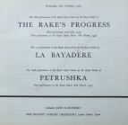 Royal Opera House Covent Garden, title page for the first performance of La Bayadère (The Kingdom of the Shades), Wednesday, 27 November 1963, revised and produced by Nureyev. The cast was led by Fonteyn and Nureyev as Nikiya and Solor. Nureyev's staging of the full length La Bayadère for the Paris Opéra Ballet in 1992 was to be his final work and the premiere on 8 October his last appearance in public.