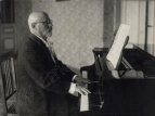 Vitols at the piano, early 1930s.  Latvian Academic Library of Literature, Theatre and Music.